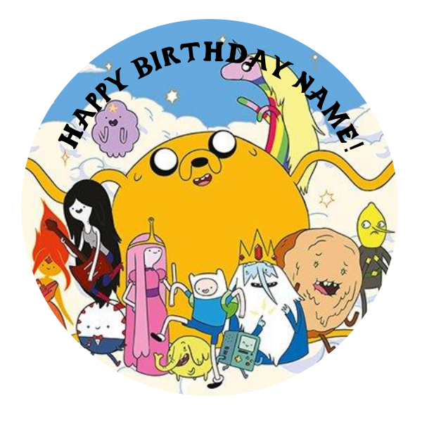 Adventure Time Edible Cake Topper