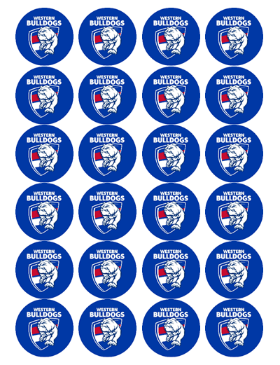 Western Bulldogs Edible Cupcake Toppers