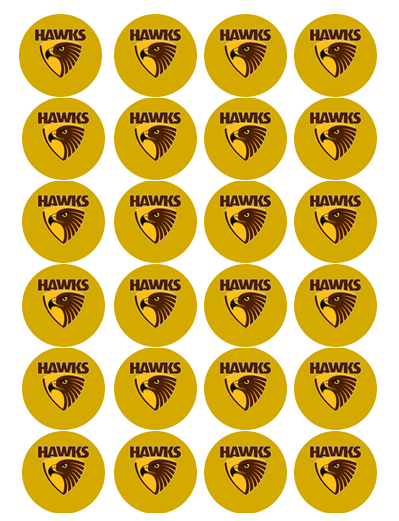 Hawthorn Hawks Edible Cupcake Toppers