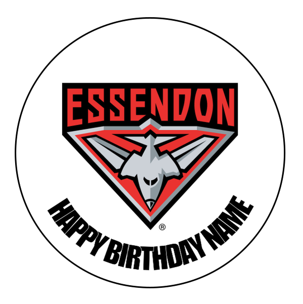 Essendon Bombers Edible Cake Topper