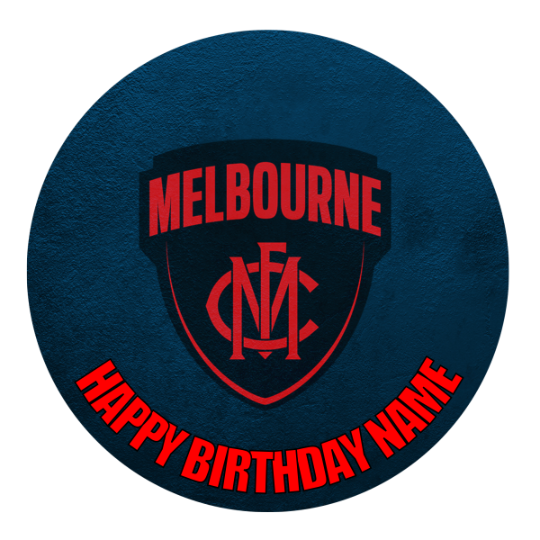 Melbourne Demons Edible Cake Topper
