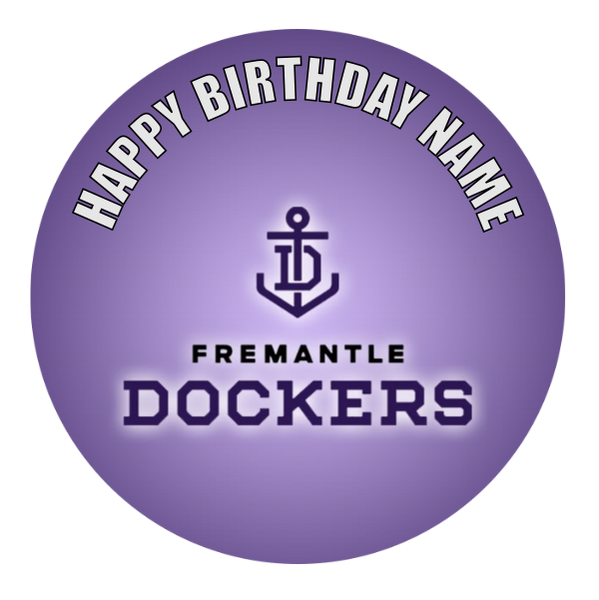 Fremantle Dockers Edible Cake Topper