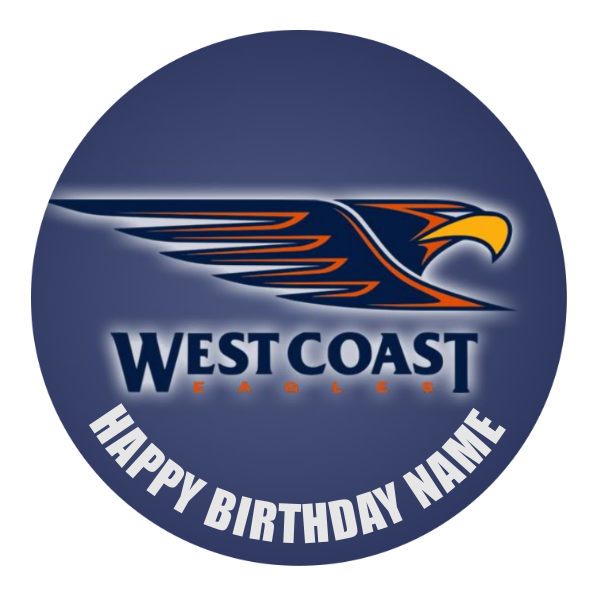 West Coast Eagles Edible Cake Topper