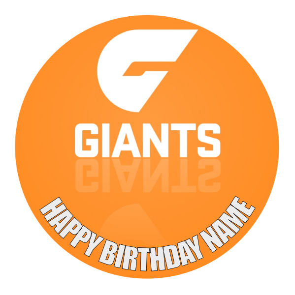 GWS Giants Edible Cake Topper