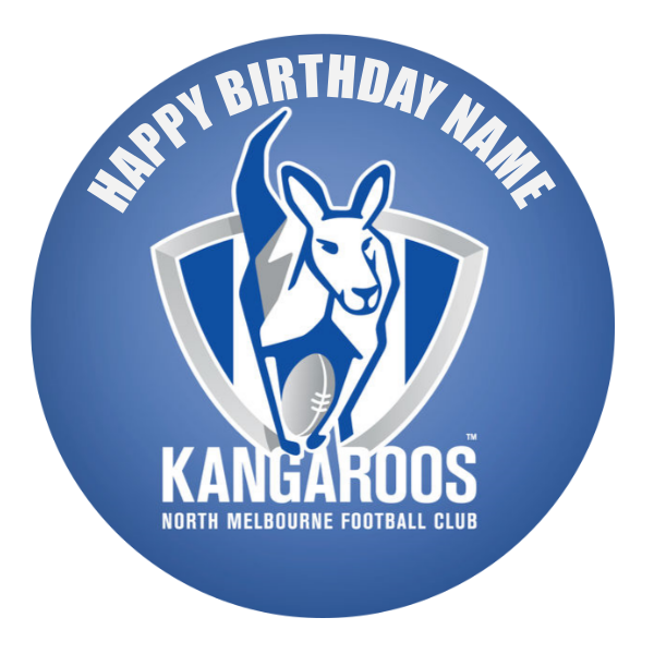 North Melbourne Kangaroos Edible Cake Topper