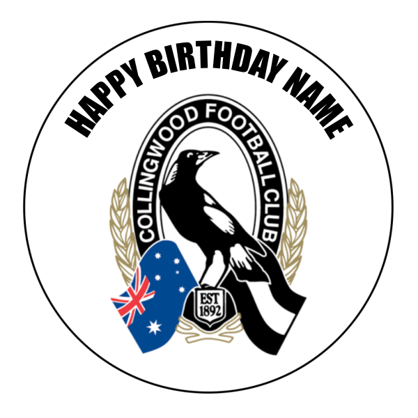 Collingwood Magpies Edible Cake Topper