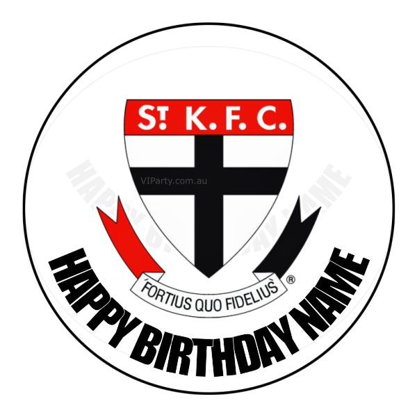 St Kilda Saints Edible Cake Topper