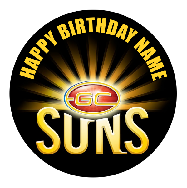 Gold Coast Suns Edible Cake Topper