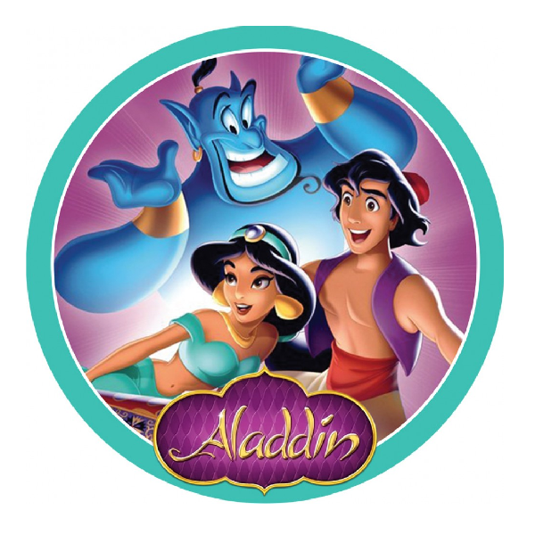 Aladdin Edible Cake topper