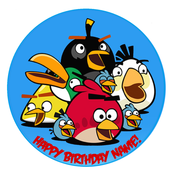 Angry Birds Edible Cake Topper