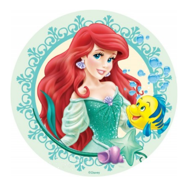Ariel Edible Cake Topper