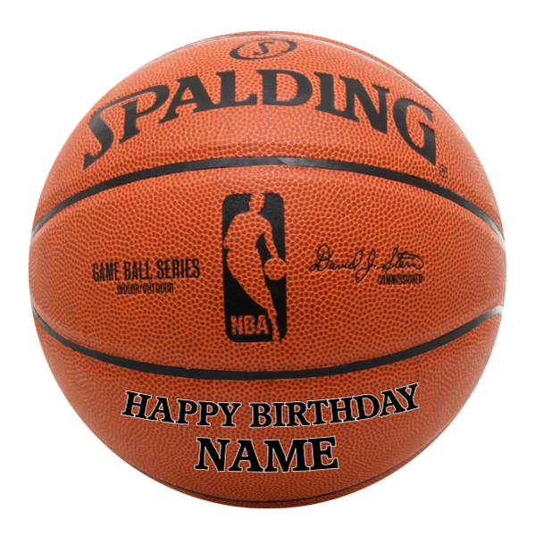 Basketball Edible Cake Topper