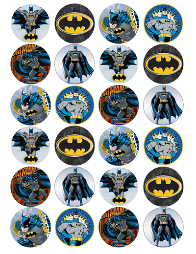 Batman Edible Cupcake Toppers
