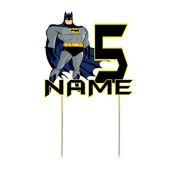 Batman Card Cake Topper
