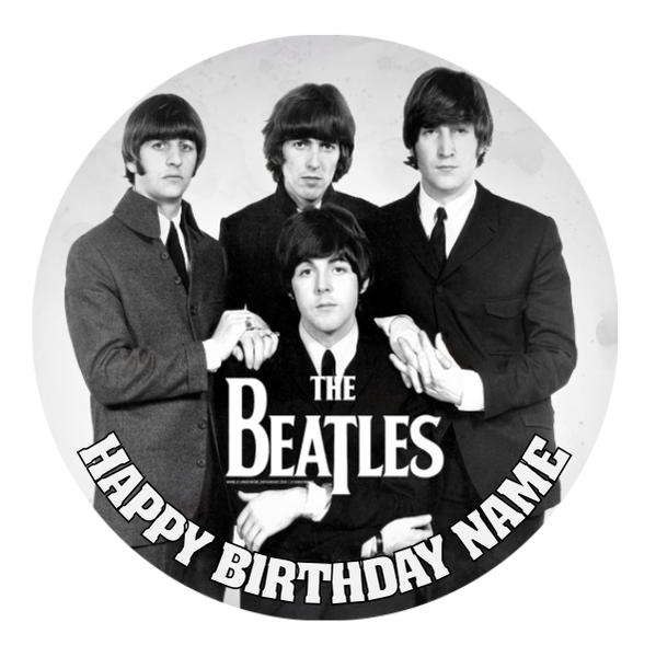 The Beatles Edible Cake Topper