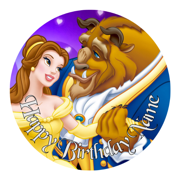 Beauty and the Beast Edible Cake topper