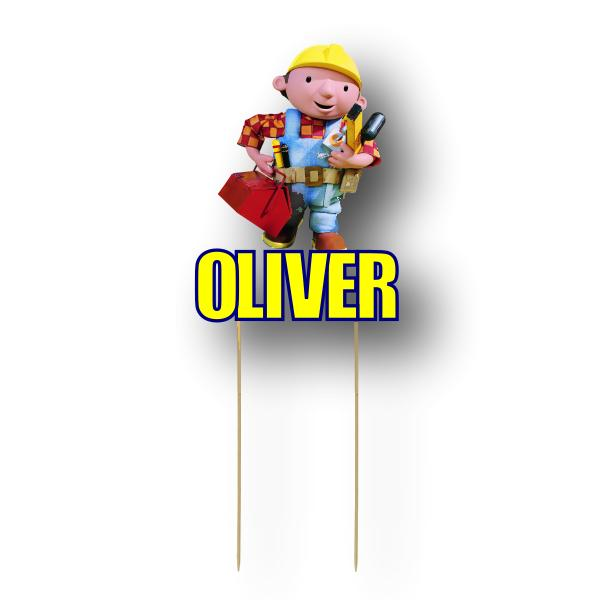 Bob the Builder Card Cake Topper