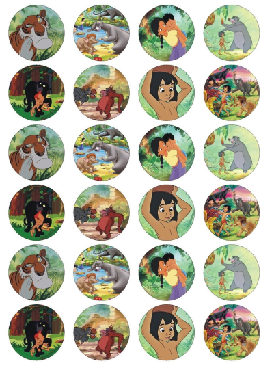 The Jungle Book Edible Cupcake Toppers