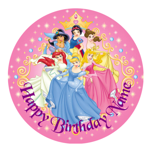 Disney Princess Edible Cake Topper