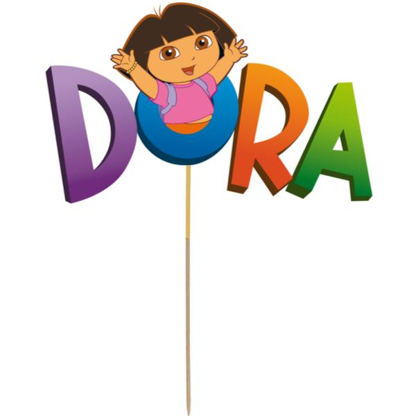 Dora the Explorer Card Cake Topper