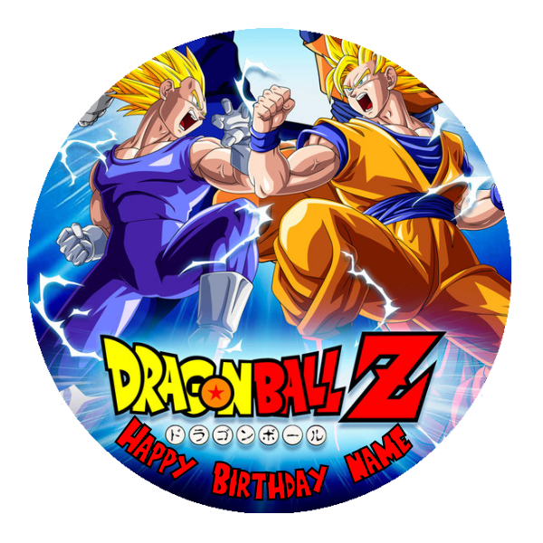 Dragonball Z Edible Cake Topper