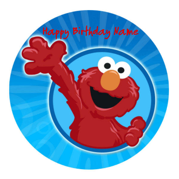 Elmo Edible Cake Topper