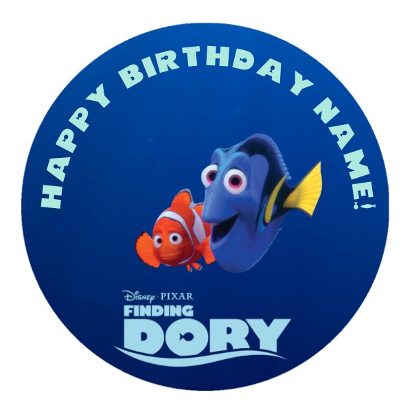 Finding Dory Edible Cake Topper