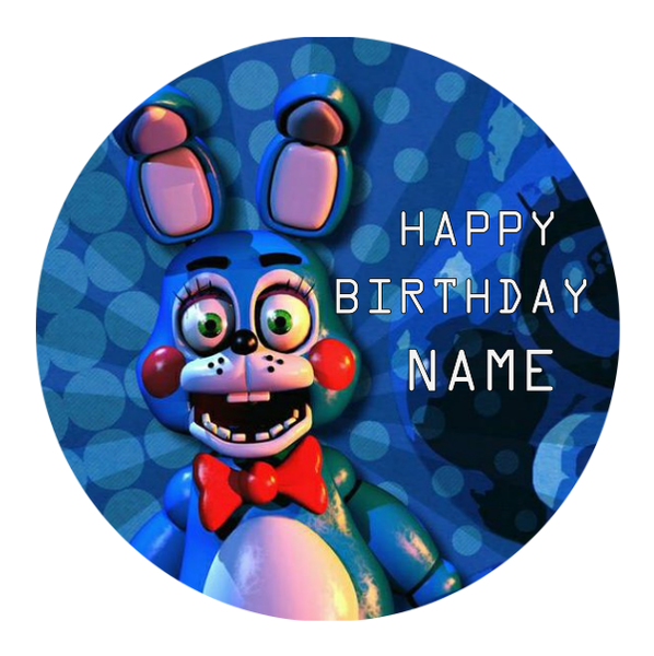 Five Nights at Freddy's Edible Cake topper