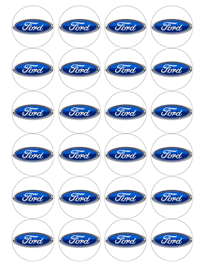 Ford Edible Cupcake Toppers