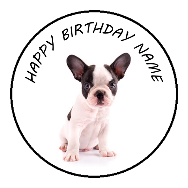 French Bulldog Edible Cake Topper