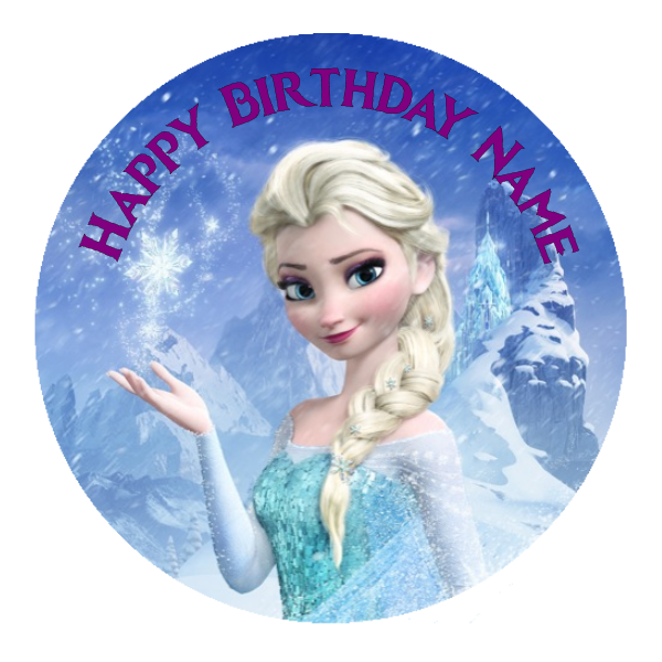 Frozen Edible Cake Topper