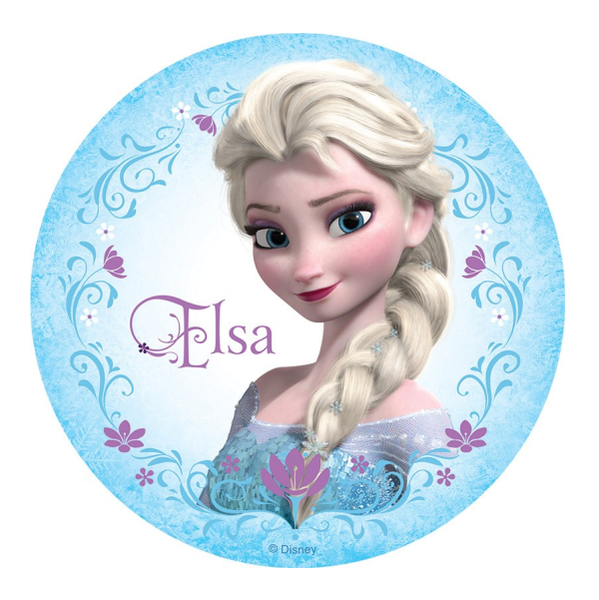 Frozen Elsa Edible Cake Topper