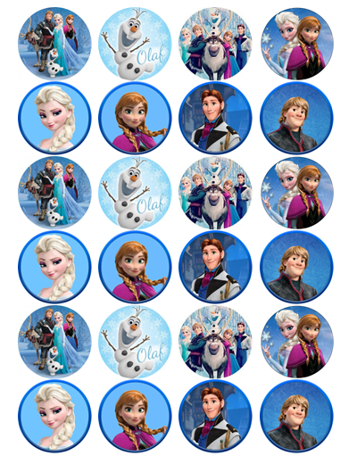 Frozen Edible Cupcake Toppers