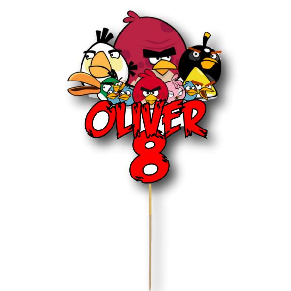 Angry Birds Card Cake Topper