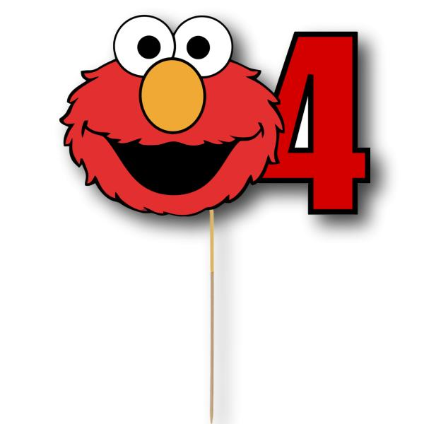 Elmo Card Cake Topper