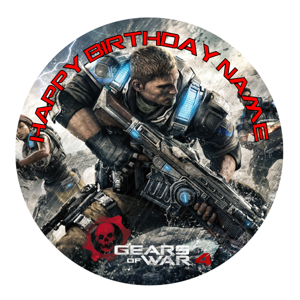 Gears of War Edible Cake Topper