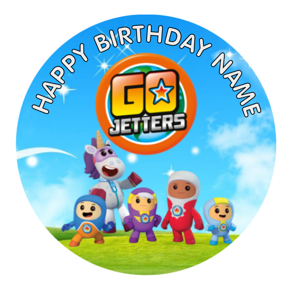 Go Jetters Edible Cake Topper