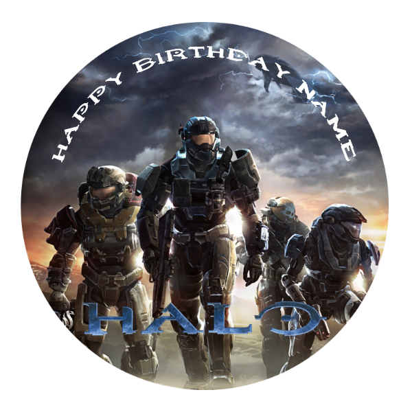 Halo Edible Cake Topper
