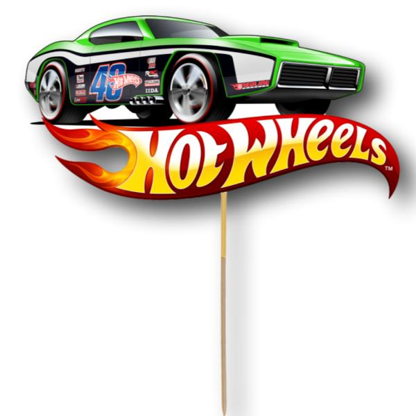 Hot Wheels Card Cake Topper