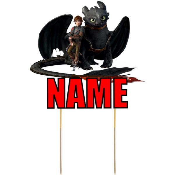 How to Train Your Dragon Card Cake Topper