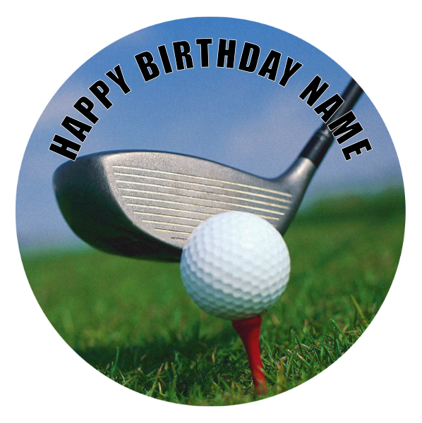 Golf Edible Cake Topper