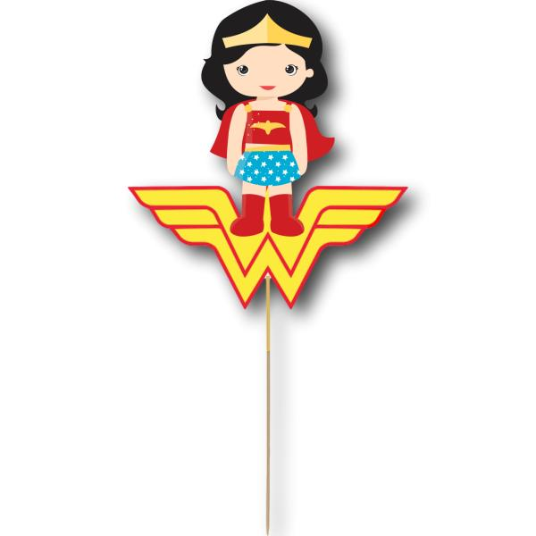 Wonder Woman Card Cake Topper