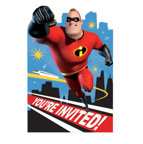 Incredibles 2 Invitations
