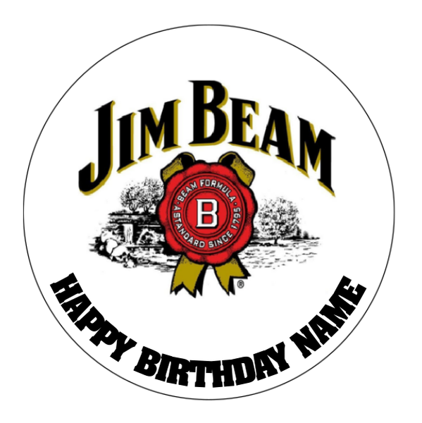 Jim Beam Edible Cake Topper