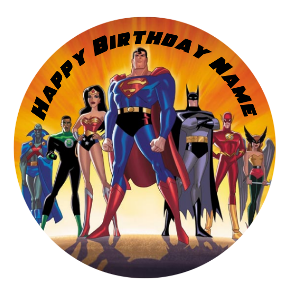 Justice League Edible Cake Topper