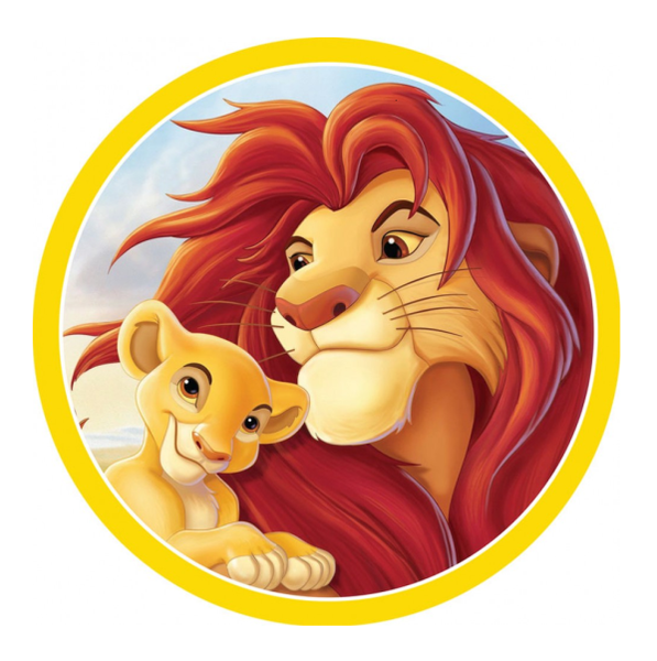 Lion King Edible Cake Topper