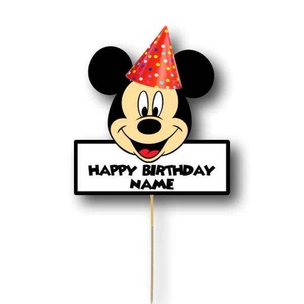 Mickey Mouse Card Cake Topper