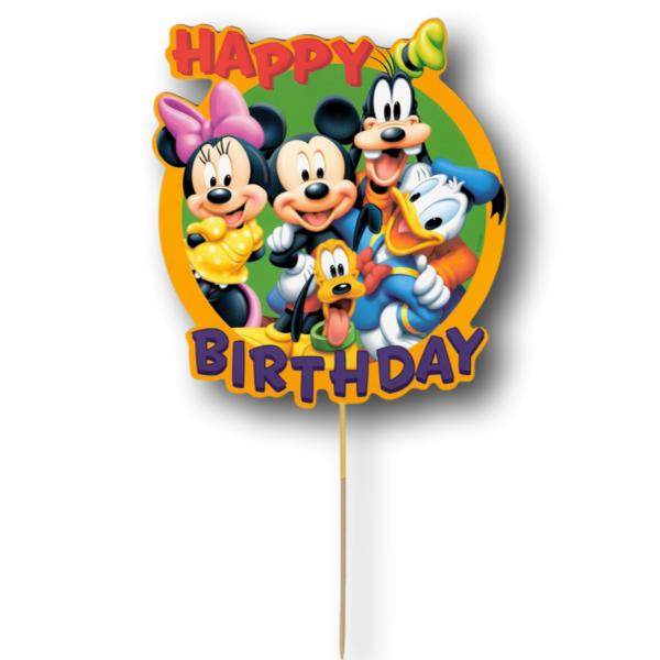 Mickey Mouse Clubhouse Card Cake Topper