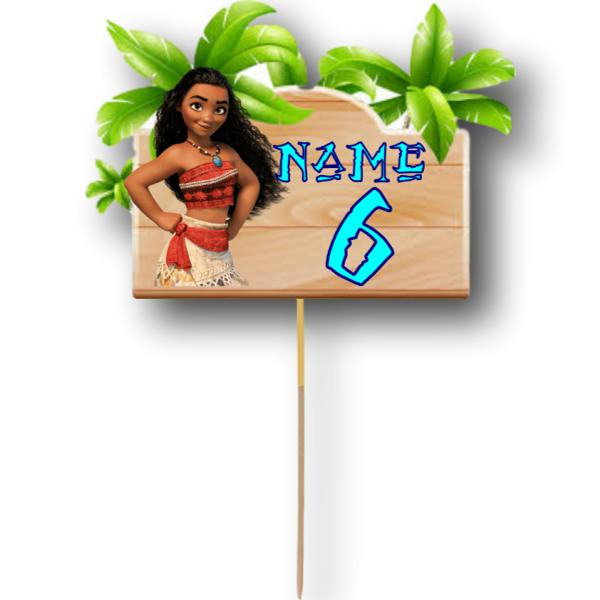 Moana Card Cake Topper