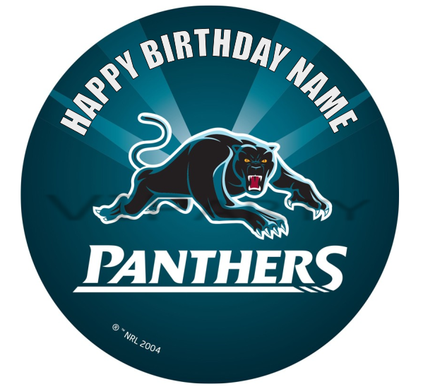 Penrith Panthers Edible Cake Topper